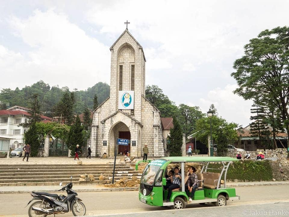 The old church in Sapa