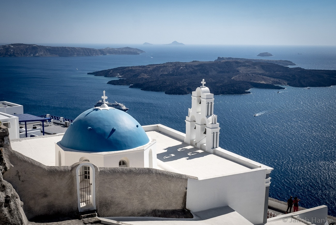 famous church in santorini